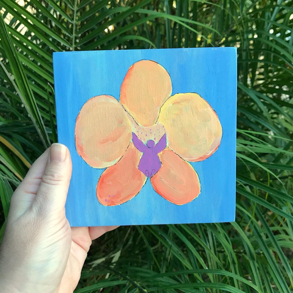 Orchid Garden Lovers Gift idea under $50 floral art