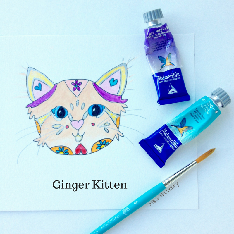 Ginger Kitten Kitty art print for sale by Mika Harmony
