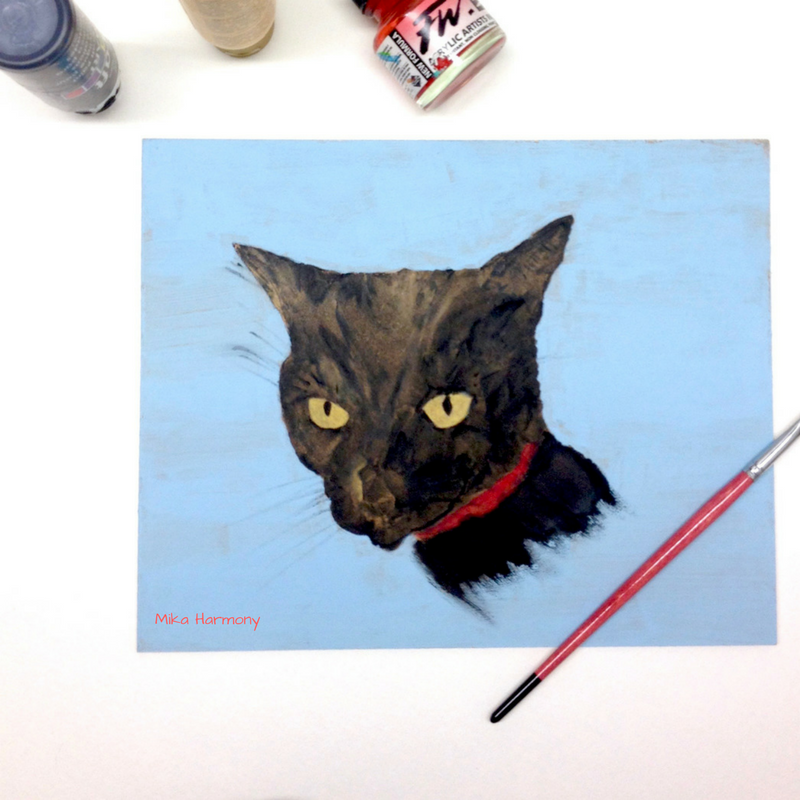 black-kitty-painting-of-maxwell-kuuipo-by-mika-harmony