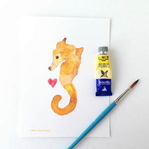 Life and Loss_rainbow-bridge-art-of-puppy-dog_willie-seahorse-painting-by-mika-harmony