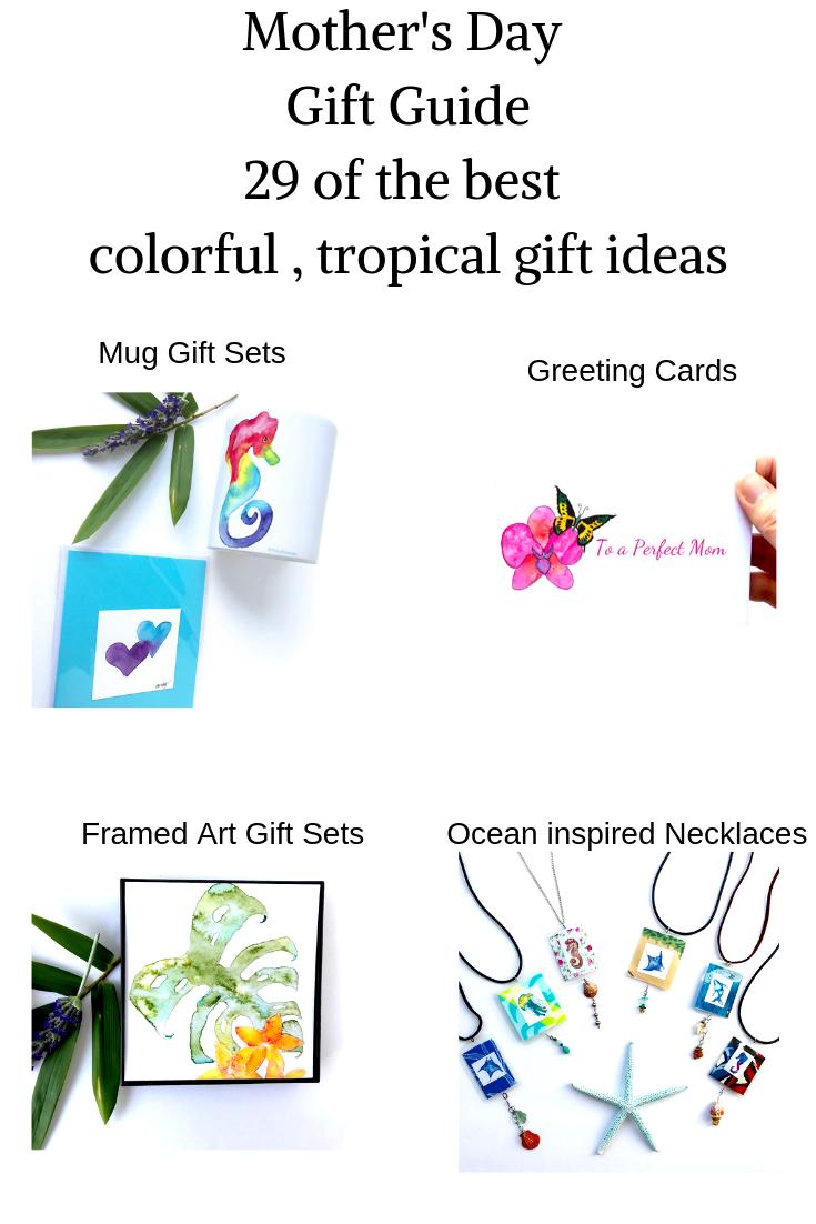 hawaiian ocean inspired gifts under $25 rainbow seahorse mug gift sets