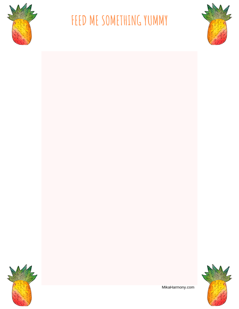 graphic regarding Pineapple Printable called Cost-free Pineapple Printable - Mika Stability