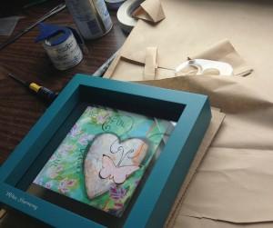 How to wrap framed art
