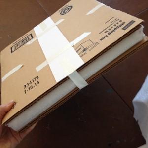 sandwich art between two pieces of cardboard. Art between cardboard