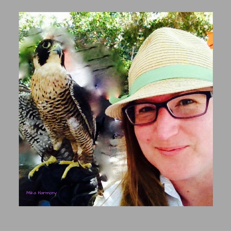 selfie-with-a-peregrine-falcon-by-mika-harmony_finding inspiration for creativity