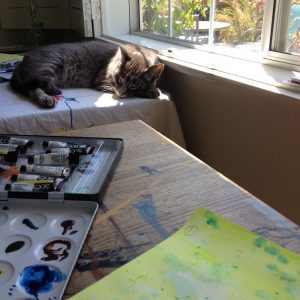 Life and Loss_a new kitty at my art studio