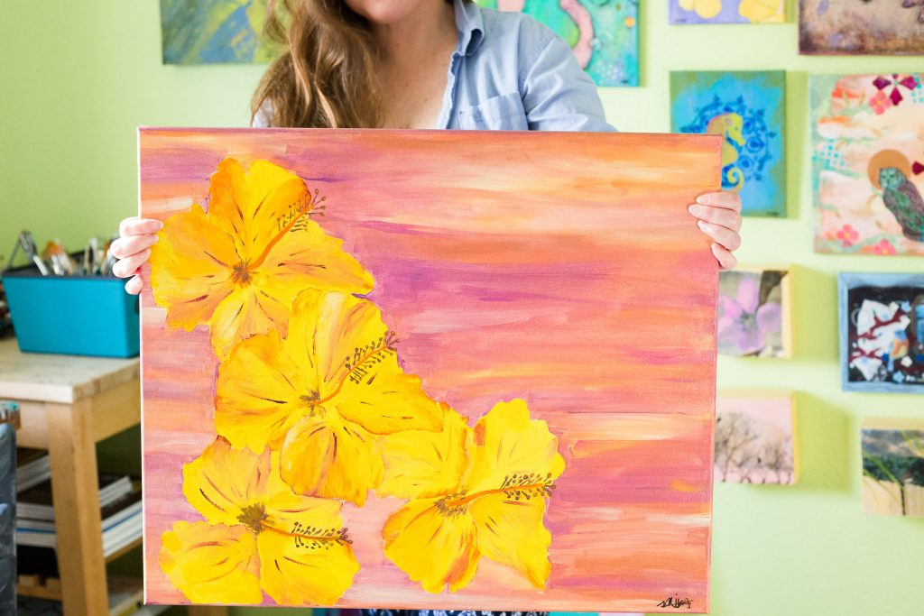 The meaning of Aloha Hibiscus painting by Mika Harmony