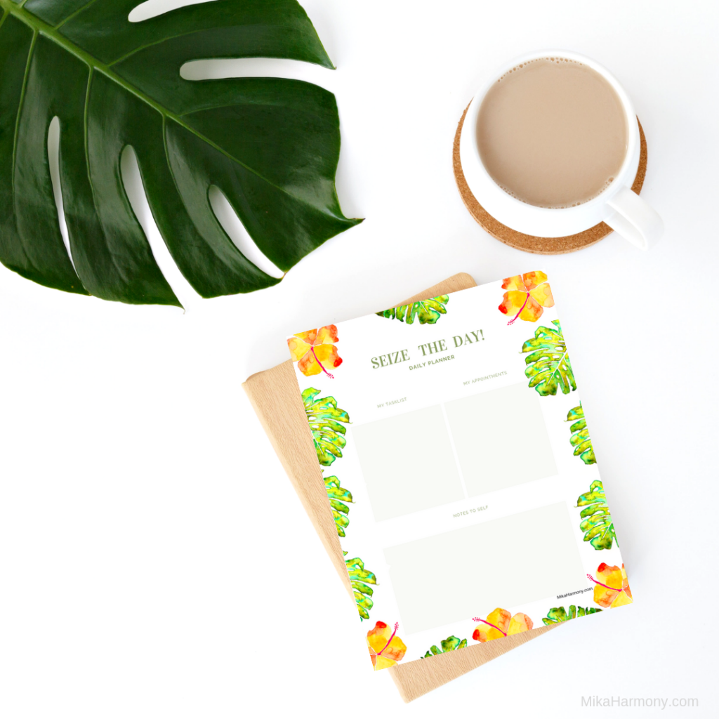 Free Printable Planner Page tropical theme